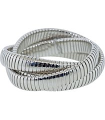 12mm white gold three band rolling bracelet