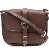 golden goose signature star buckle shoulder bag - brown