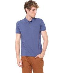 camisa polo calvin klein jeans friso basico reta azul - kanui