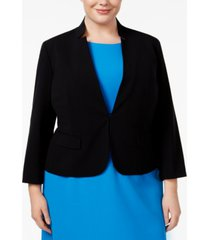 nine west plus size stand-collar blazer