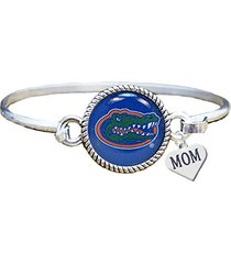 florida gators silver cuff bangle bracelet with mom charm jewelry uf