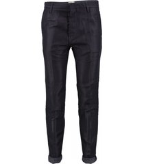 replay alphard stevige donkerblauwe tapered slim pantalon
