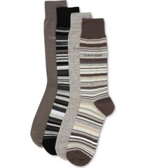 calvin klein men's 4-pack multi-stripe dress socks