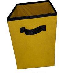 caixa organizadora de 28x30x28 amarela com alã§a - amarelo - dafiti