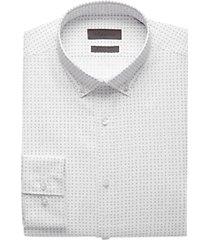calvin klein white geometric dot extreme slim fit dress shirt