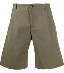 nine in the morning flared chino shorts - green