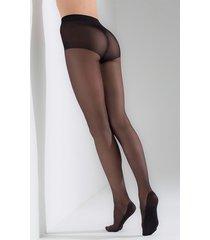 natori massaging sheer tights, women's, black, cotton, size m natori