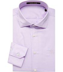 roberto cavalli men's comfort-fit dress shirt - lilac - size 15.5 39