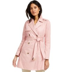 charter club classic solid trench coat, created for macy's