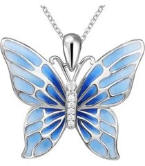 collar mariposa celeste arany joyas
