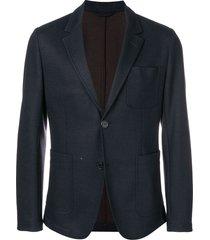 ami classic woven blazer - blue