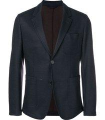 ami paris classic woven blazer - blue