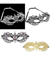 laser cut metal venetian pretty masquerade mask rhinestones mardi gras tie lot