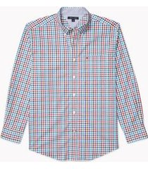 tommy hilfiger men's adaptive regular fit plaid shirt snow white/multi - s