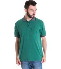 camisa polo masculina manga curta 348047 verde