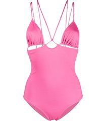 jacquemus strappy cut-out detail swimsuit - pink