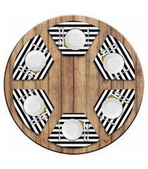 jogo americano love decor  para mesa redonda wevans love kit com 6 pçs