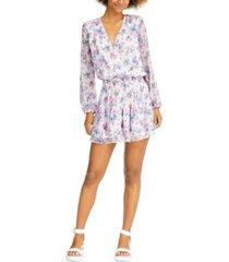 sadie & sage long-sleeve floral-print mini dress