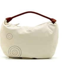 bolsa sacola desigual estampada off-white - kanui