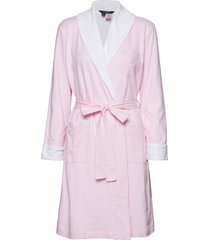 lrl essential short shawl collar robe morgonrock rosa lauren ralph lauren homewear