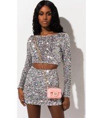 akira hit the slopes sequin mini skirt