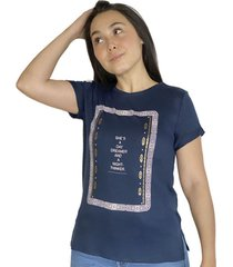 camiseta estampada para mujer x49577