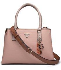 becca status satchel bags top handle bags rosa guess