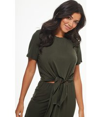 tie front jersey beach t-shirt co-ord