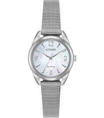 citizen drive from citizen eco-drive women's stainless steel mesh bracelet watch 27mm