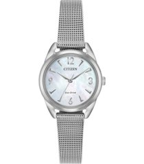 citizen drive from citizen eco-drive women's stainless steel mesh bracelet watch 27mm