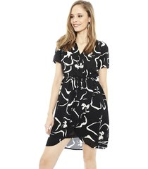 vestido vero moda ilona negro - calce regular