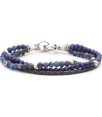 john varvatos mutistrand skull bracelet in blue at nordstrom