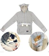 japanese mewgaroo kangaroo big pouch for small cat dog pet lovers hoodie