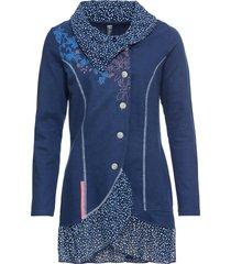 giacca in maglina con collo grande (blu) - rainbow