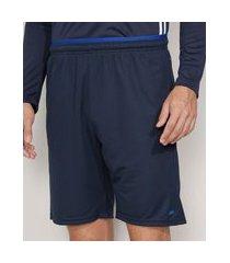 bermuda masculina esportiva ace com bolsos e cós contrastante azul marinho