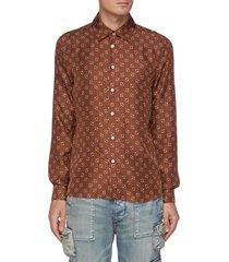 micro paisley print shirt