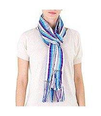 cotton scarf, 'clouds' (guatemala)