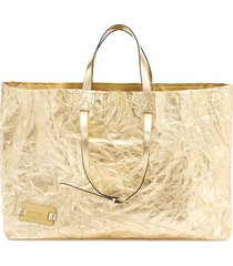 jw anderson crinkle tote - gold