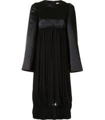 comme des garçons oversized panelled midi dress - black