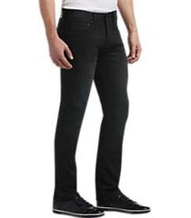 joseph abboud black french terry extreme slim fit jeans