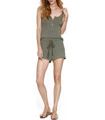 women's heartloom ramona drawstring shorts, size large - green