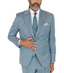 tayion collection men's classic-fit solid teal suit separates jacket
