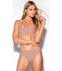 rebecca stella sporty bikini pantie - pink,nude