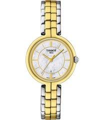 women's tissot flamingo bracelet watch, 30mm