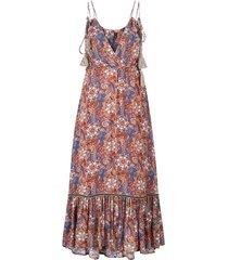 jurk bloemenprint mouwloze