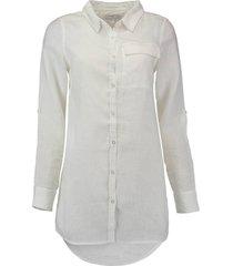 blouse lang linnen wit