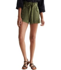 lucky brand call the shots paperbag-waist shorts
