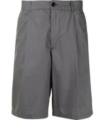 emporio armani cotton bermuda shorts - grey