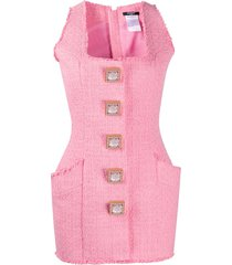balmain tweed mini dress - pink