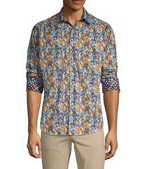 marne abstract print sport shirt